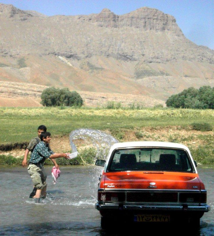 Autolavaggio in Iran di goiaba