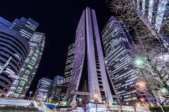 Photo: Looking up at the skyscrapers of Shinjuku in Tokyo, Japan