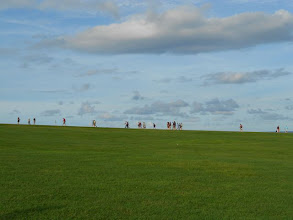 Photo: I love this picture. They are walking up to El Morro.