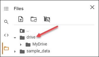 This is where the Google Drive files are