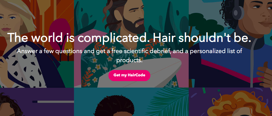 HairCode quiz landing page cover