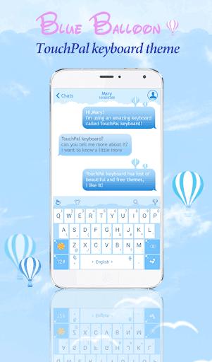 TouchPal Blue Balloon Theme