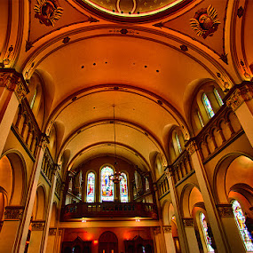 Looking Up  by John Goff - Buildings & Architecture Places of Worship ( mt. saint mary's immaculate conception chapel )