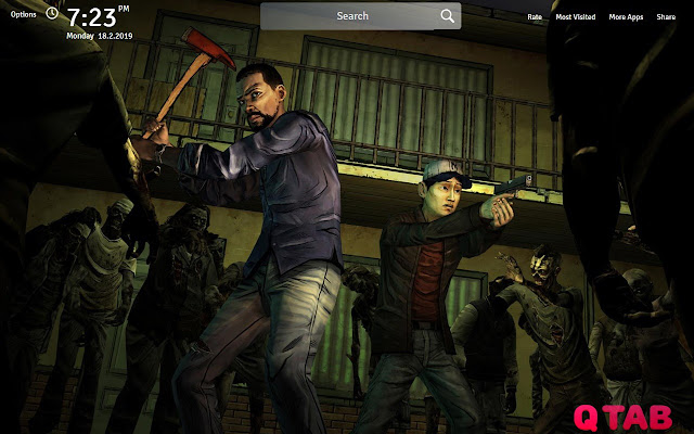The Walking Dead Wallpapers Game New Tab