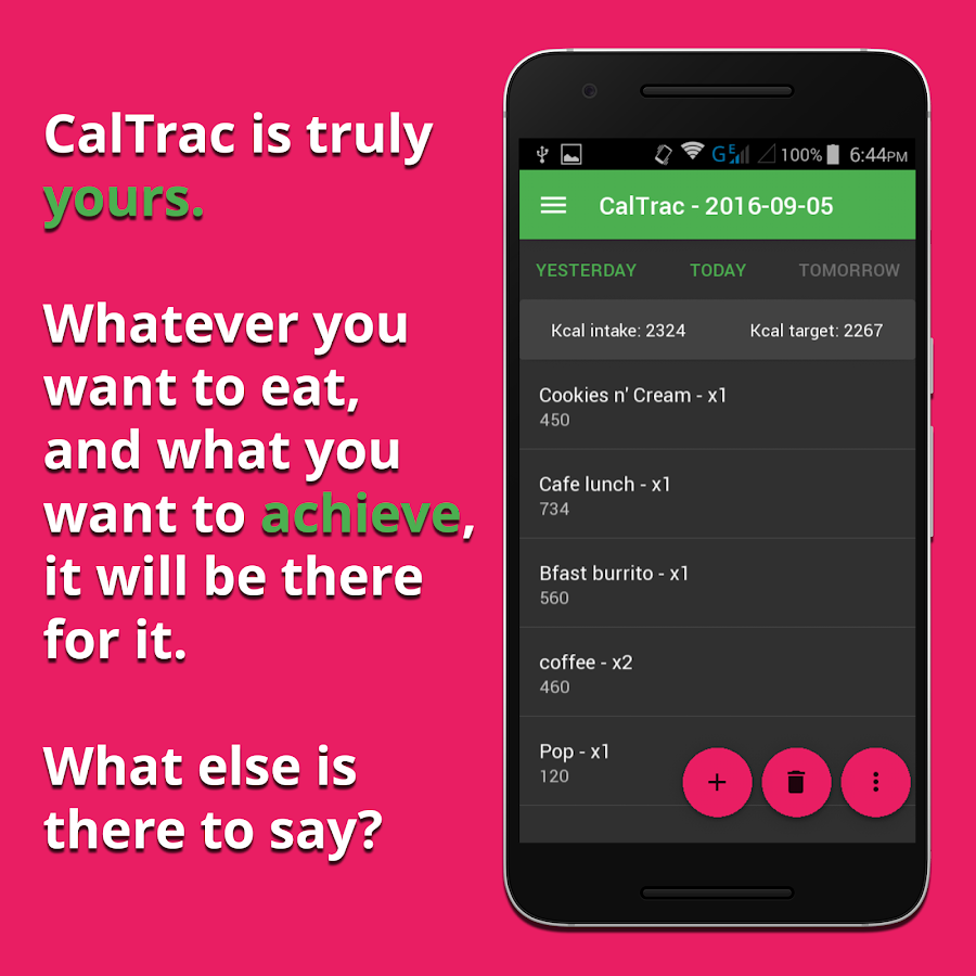 CalTrac - Calorie counter- screenshot