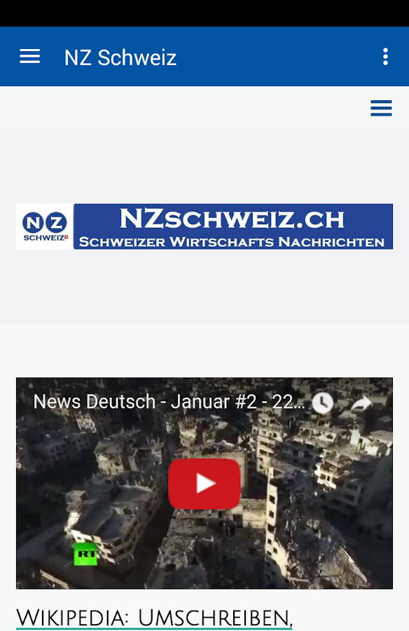 NZ Schweiz- screenshot