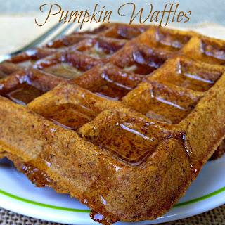 Pumpkin Spice Waffles (Vegan, Gluten-Free).