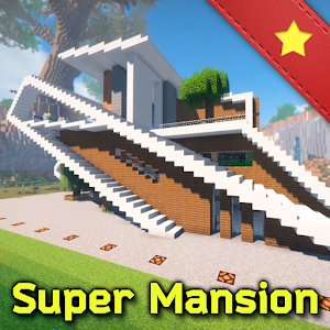 Super Mansion for Minecraft - smart house map for PC