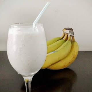 Frozen Banana Milkshake.