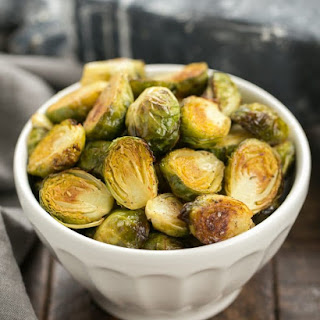 Honey Mustard Roasted Brussels Sprouts.