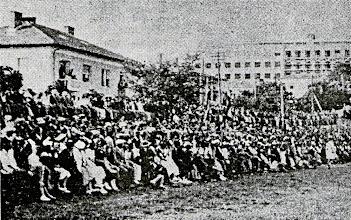 Photo: Publika na otvaranju Orijentovog igrališta 20.05.1923g prije utakmice Orijent-HAŠK 0:1