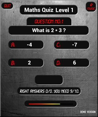 Math Maths Quiz Game v2