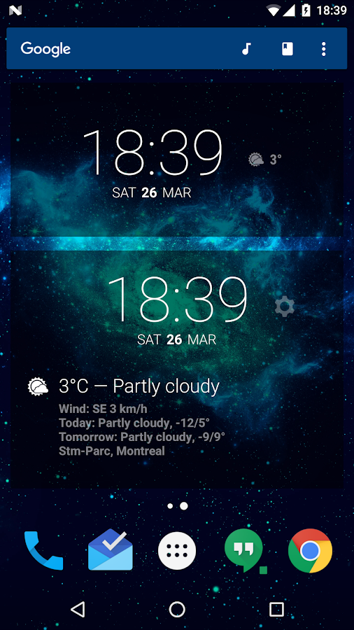 BetterWeather for DashClock- screenshot