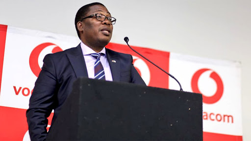 MEC Panyaza Lesufi at the handover ceremony of the mobile devices to Gauteng school principals yesterday.