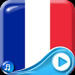 French Flag Waving Wallpaper Icon