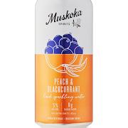 Canned Muskoka Seltzer Peach & Black Current