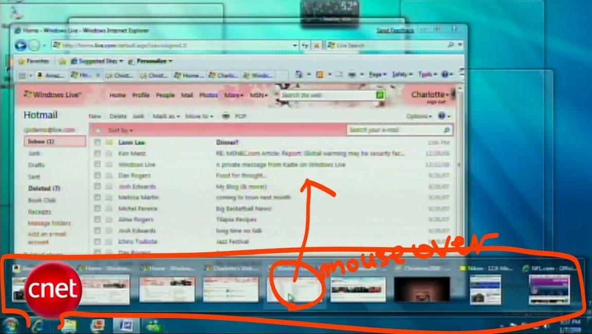 windows 7 new taskbar