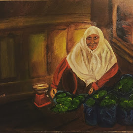 Sarah's Israel II by Melanie Levin - Painting All Painting ( diversity, candid, israel, merchant, oil painting )