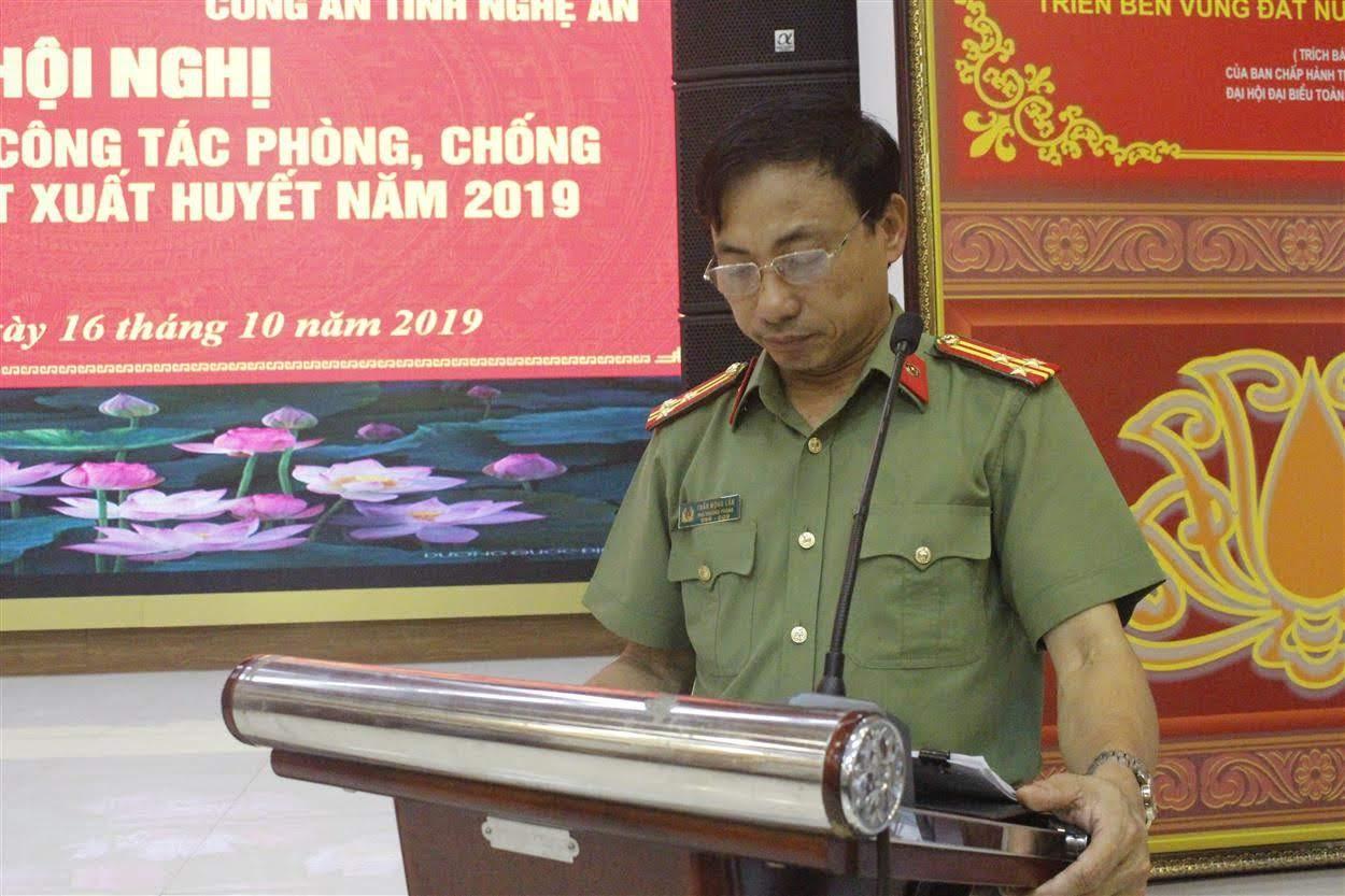 Đại diện Cục Y tế, Bộ Công an phát biểu tại Hội nghị