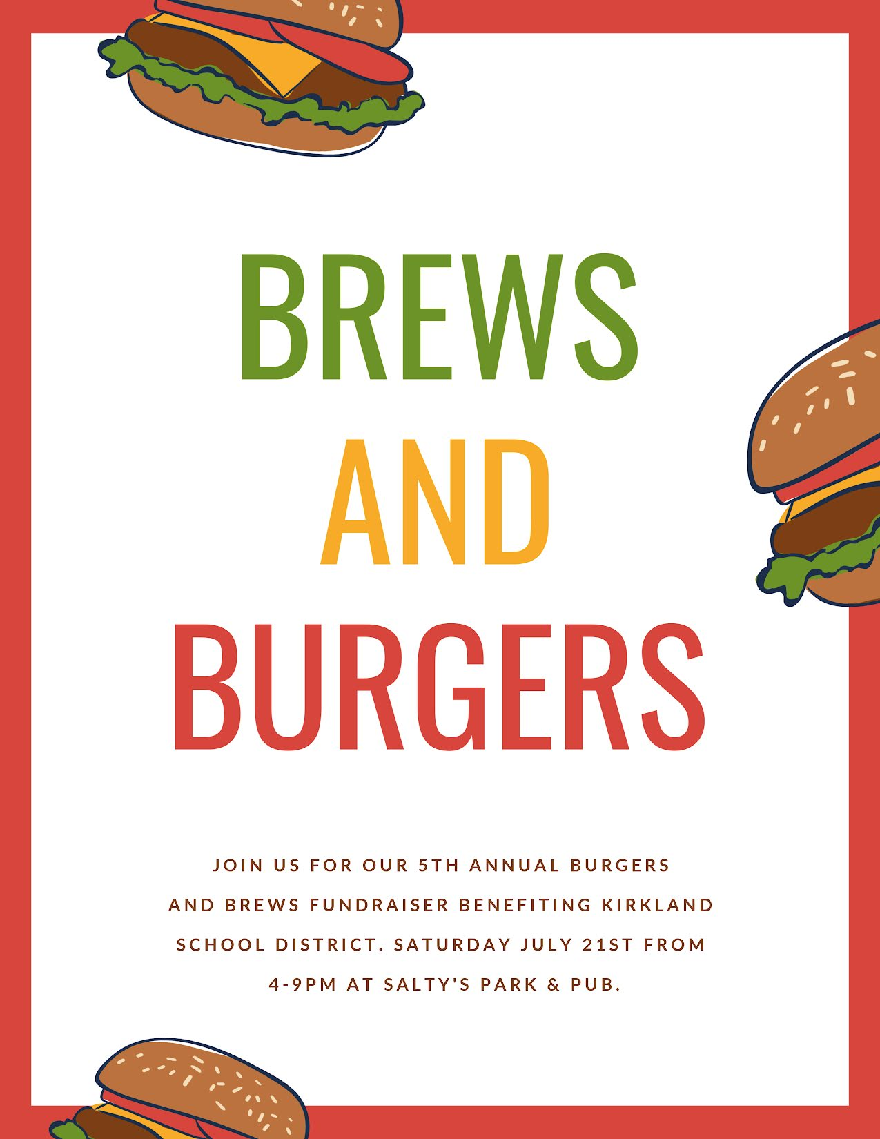 Brews & Burgers - Flyer Template