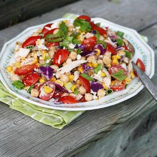 Summery Kitchen Sink Salad with Creamy BBQ Dressing Recipe
