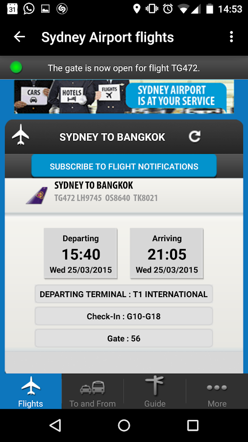 Sydney Airport- screenshot
