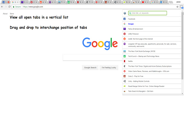 Tabs Search & Navigator