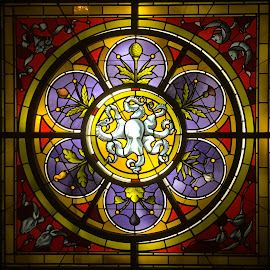 Stained Glass, La Scala Restaurant, Savannah, GA by Dee Haun - Artistic Objects Glass ( artistic objects, glass, georgia, la scala restaurant, 190117t3374rce1, stained glass, savannah )