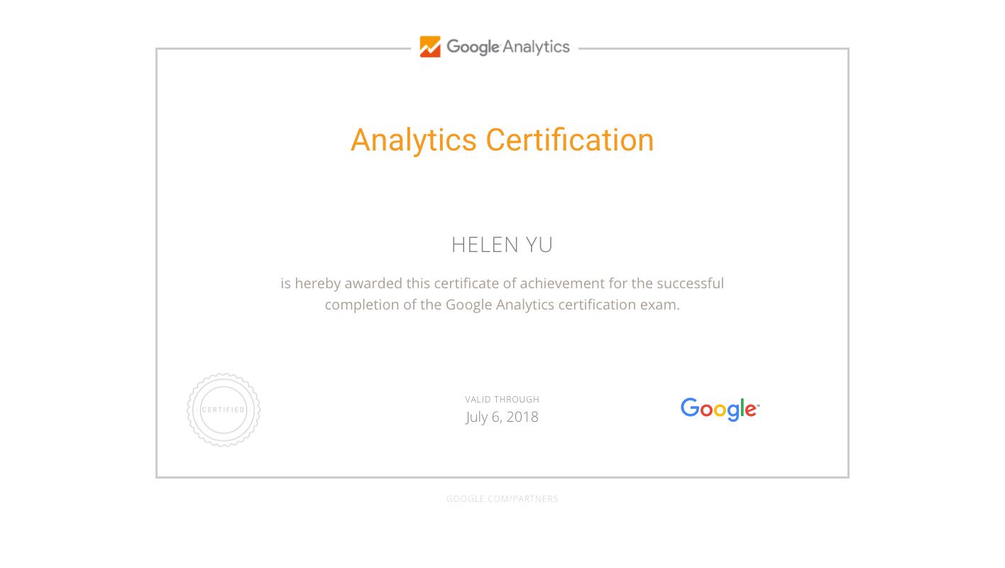 Google Analytics (分析) 個人認證考試-startdo 網站分析