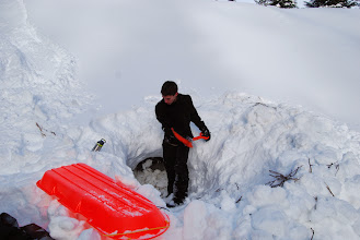 Photo: Snow Caving #7