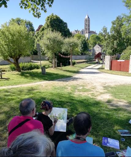 démostration aquarelle Jeanne PAPA Chateau Landon, Juin 2019 fontainebleau cours stages