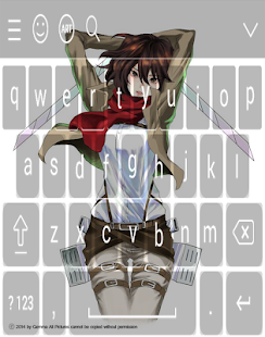 Keyboard - Attack On Titan Anime & Manga