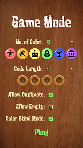 Mastermind - Code breaker (Color Blind friendly) 1.0 screenshots 3