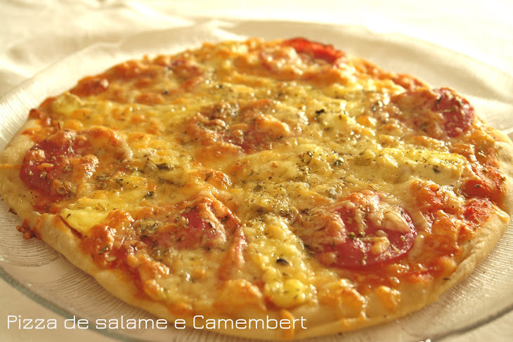 Salami and Camembert Pizza