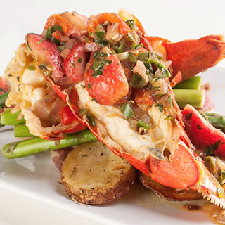 Lobster Tails With Strawberries.