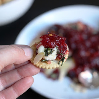 Cranberry-Basil Baked Brie