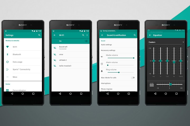 android Material Teal Theme Screenshot 1