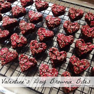 Valentine's Day Brownie Bites.