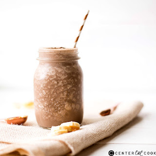 Healthy Chocolate Peanut Butter Smoothie.