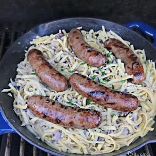 Creamy Kraut & Mushroom Noodles.