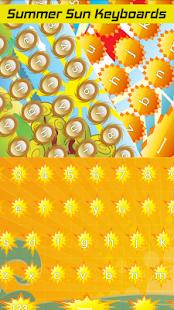 Letní sluneční klávesnice - náhled