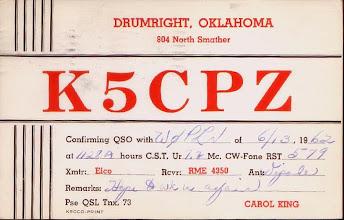 Photo: Carol King Lynch K5CPZ 1962 current W6CL