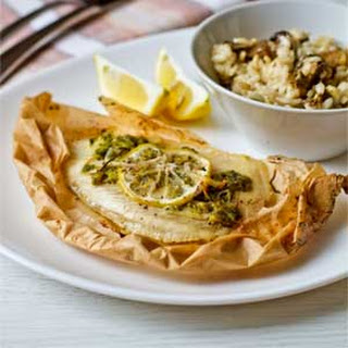 Tilapia with Pesto in Parchment