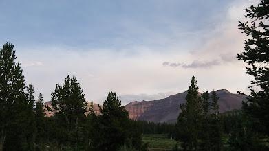 Photo: The sun highlighting the red of Gilbert Peak