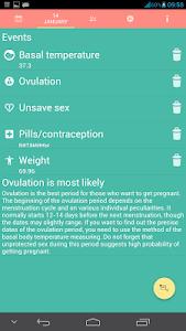Woman calendar screenshot 1