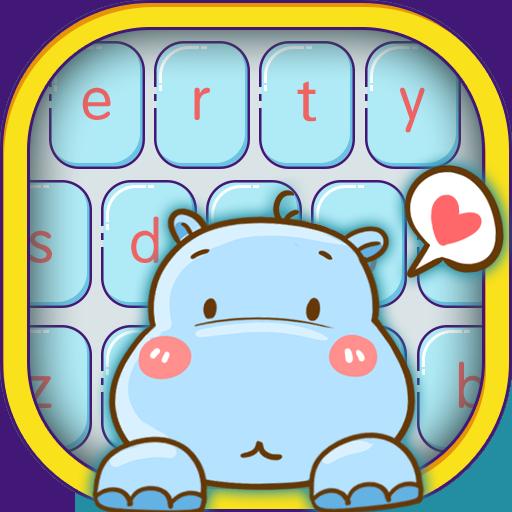 Cute hippo keyboard