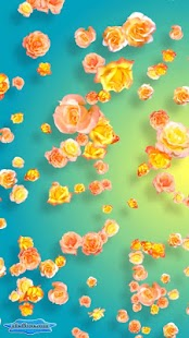 Tender Yellow Pink Roses 3D- screenshot thumbnail