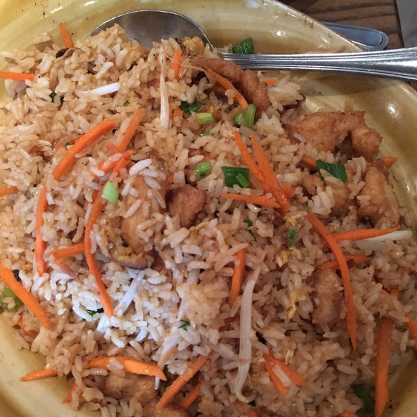 Chicken fried rice - comes reg and GF