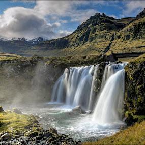 Kirkjufellsfoss by Jen St. Louis - Landscapes Travel ( waterfall, kirkjufell, iceland, kirkjufellsfoss,  )