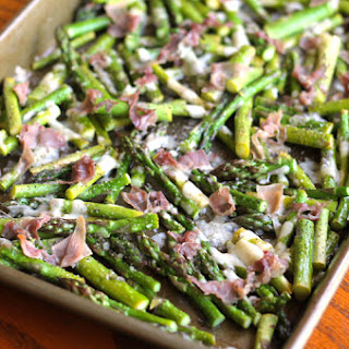 Prosciutto and Parmesan Baked Asparagus
